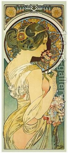 La Primevere by Alphonse Maria Mucha - Reproduction Oil Painting