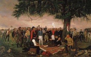 Famous paintings of Soldiers: Surrender At Santa Anna