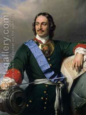 Peter I the Great 1672-1725 by Hippolyte (Paul) Delaroche - Reproduction Oil Painting