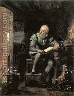 Palissy in his Workshop by Hippolyte (Paul) Delaroche - Reproduction Oil Painting