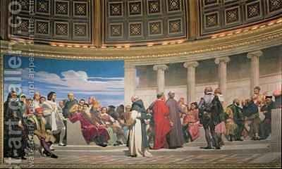 Hemicycle Artists of All Ages by Hippolyte (Paul) Delaroche - Reproduction Oil Painting