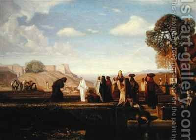 Rebecca at the Well by Alexandre Gabriel Decamps - Reproduction Oil Painting