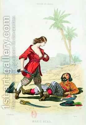 Mary Read from Histoire des Pirates by (after) Debelle, Alexandre - Reproduction Oil Painting