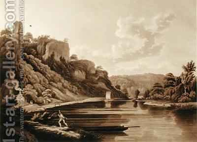 View of the New Weir on the River Wye by (after) Dayes, Edward - Reproduction Oil Painting