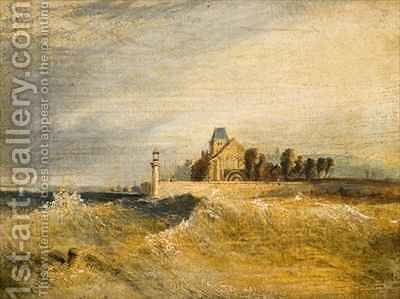 Coast Scene with Pier by Henry Thomas Dawson - Reproduction Oil Painting
