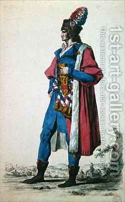 Costume of a Representative of The French People in 1793 by (after) David, Jacques Louis - Reproduction Oil Painting