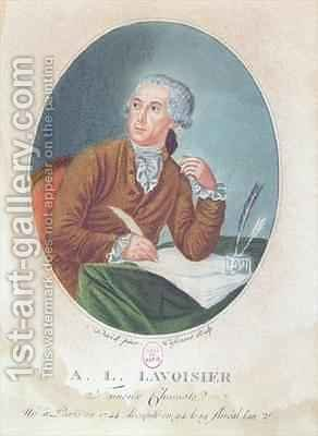 Antoine Laurent de Lavoisier 1743-94 by (after) David, Jacques Louis - Reproduction Oil Painting