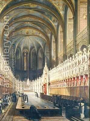 Interior of Albi Cathedral by Adrien Dauzats - Reproduction Oil Painting