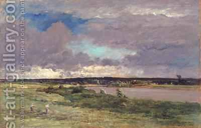 The Coming Storm Early Spring by (after) Daubigny, Charles Francois - Reproduction Oil Painting