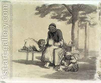 A Grandmother by Honoré Daumier - Reproduction Oil Painting