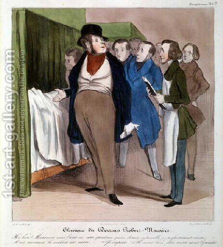 The Clinic of Dr Robert Macaire by Honoré Daumier - Reproduction Oil Painting