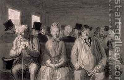 The third class carriage 2 by Honoré Daumier - Reproduction Oil Painting