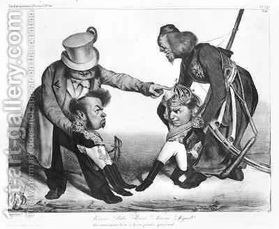 The Civil War in Portugal bringing into conflict Pedro I 1798-1834 Emperor of Brazil and King of Portugal and Dom Miguel 1802-66 by Honoré Daumier - Reproduction Oil Painting