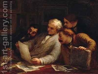 The Print Collectors 3 by Honoré Daumier - Reproduction Oil Painting
