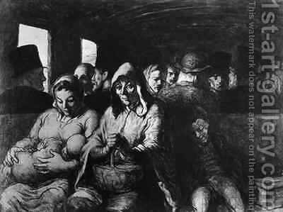 The Third Class Carriage 3 by Honoré Daumier - Reproduction Oil Painting