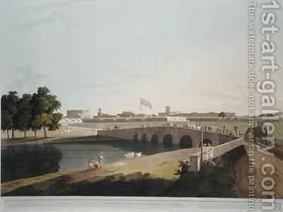 Western Entrance of Fort St George Madras by (after) Daniell, Thomas - Reproduction Oil Painting