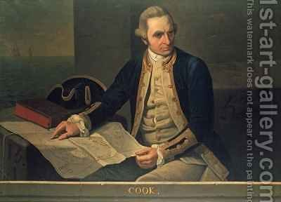 Portrait of Captain Cook by (after) Dance Holland, Nathaniel - Reproduction Oil Painting