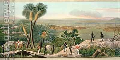 Panoramic view of King Georges Sound part of the colony of Swan River by (after) Dale, R. - Reproduction Oil Painting