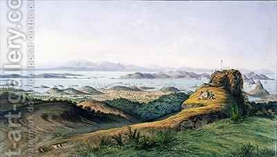 Panorama of Rio de Janeiro Brazil by Adolphe D'Hastrel - Reproduction Oil Painting