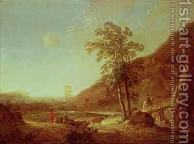 Hilly Italianate Landscape by Aelbert Cuyp - Reproduction Oil Painting