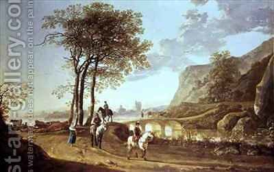Extensive River Landscape by Aelbert Cuyp - Reproduction Oil Painting