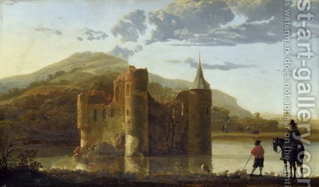 Ubbergen Castle by Aelbert Cuyp - Reproduction Oil Painting