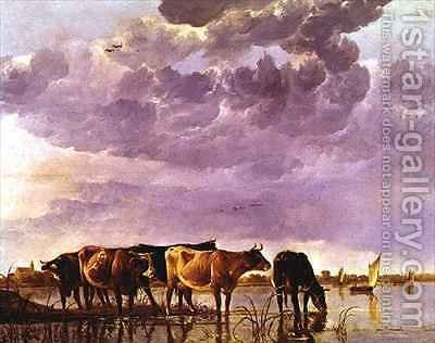 Cows in the Water 2 by Aelbert Cuyp - Reproduction Oil Painting