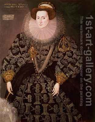 Frances Clinton Lady Chandos 1552-1623 by Hieronymus Custodis - Reproduction Oil Painting