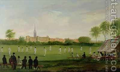 Cricket at Newark on Trent by J.D. Curtis - Reproduction Oil Painting