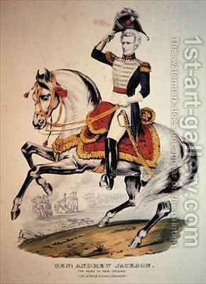 General Andrew Jackson by (after) Currier, N. - Reproduction Oil Painting