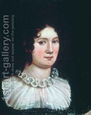 Claire Clairmont 1798-1879 by Amelia Curran - Reproduction Oil Painting