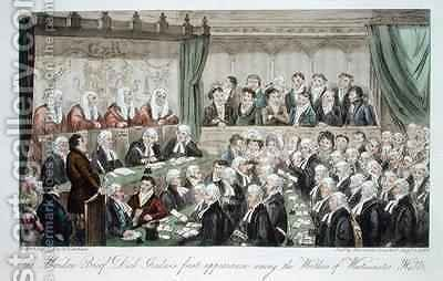 The maiden brief Dick Graduss first appearance among the worthies of Westminster Hall by Isaac Robert Cruikshank - Reproduction Oil Painting