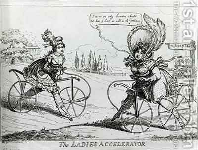 The Ladies Accelerator by Isaac Robert Cruikshank - Reproduction Oil Painting