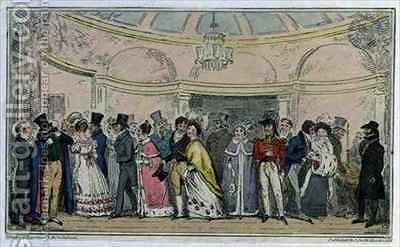 Leaving the Opera by Isaac Robert Cruikshank - Reproduction Oil Painting