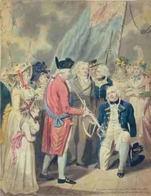 George III Presenting a Sword to Lord Howe