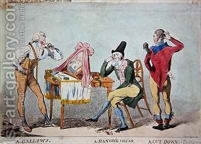 Cartoon of the French aristocratic emigres in England during the Revolution by Isaac Cruikshank - Reproduction Oil Painting