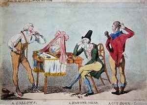 Cartoon of the French aristocratic emigres in England during the Revolution