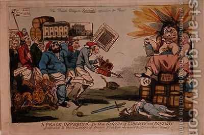 A Peace Offering to the Genius of Liberty and Equality by Isaac Cruikshank - Reproduction Oil Painting