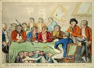 Reproduction oil paintings - Isaac Cruikshank - The delegates in council or beggars on horseback