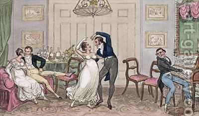 An Introduction Gay moments of Logic Jerry Tom and Corinthian Kate by I. Robert and George Cruikshank - Reproduction Oil Painting