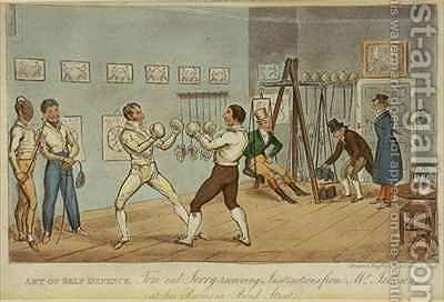 Art of Self Defence by I. Robert and George Cruikshank - Reproduction Oil Painting