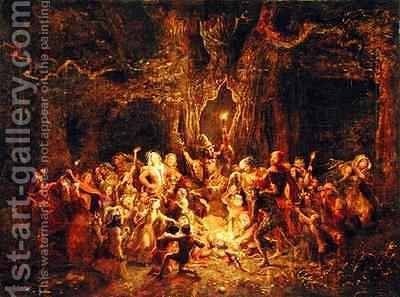 George Cruikshank I: Hernes Oak from The Merry Wives of Windsor - reproduction oil painting