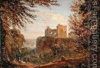 Chepstow Castle by (after) Cox, David - Reproduction Oil Painting