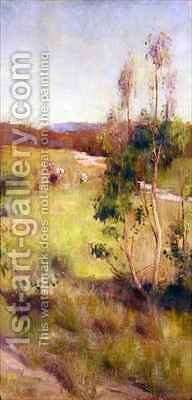 Gum Trees and Cattle by Gordon Coutts - Reproduction Oil Painting
