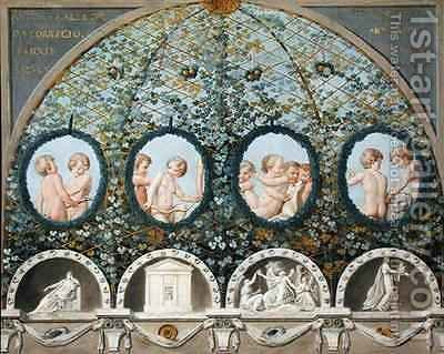Design for a Ceiling Fresco by (after) Correggio, (Antonio Allegri) - Reproduction Oil Painting