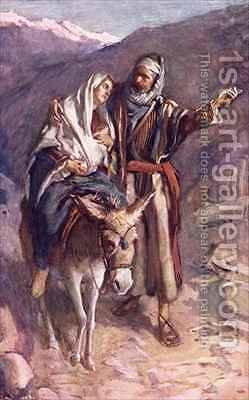 The flight into Egypt by Harold Copping - Reproduction Oil Painting