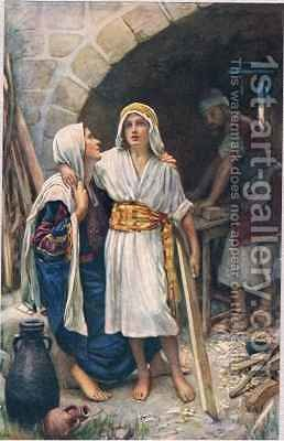 Mary and Jesus by Harold Copping - Reproduction Oil Painting