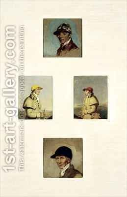 Studies of Jockeys 3 by Abraham Cooper - Reproduction Oil Painting
