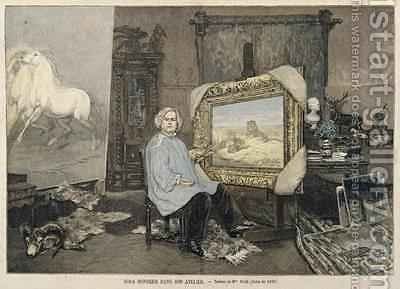 Rosa Bonheur 1822-99 in her studio by (after) Consuelo-Fould, Madame - Reproduction Oil Painting