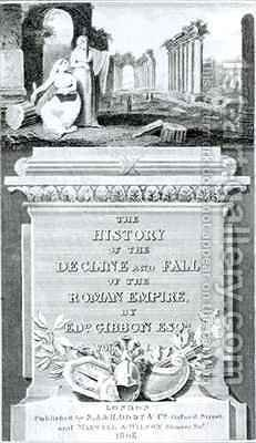 Titlepage of The History of the Decline and Fall of the Roman Empire by Henry R. Cook - Reproduction Oil Painting